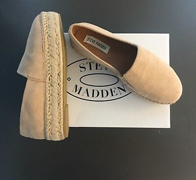 0cafe7e6fca STEVE MADDEN WRIGHT NATURAL LEATHER PERFORATED SLIP-ON ESPADRILLE ...