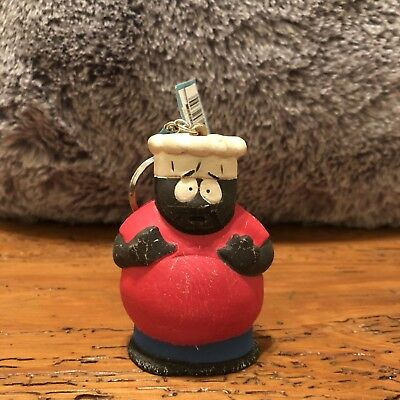 1998 Comedy Central Chef South Park Squeezies Keyring Keychain Vintage 90s ALPI