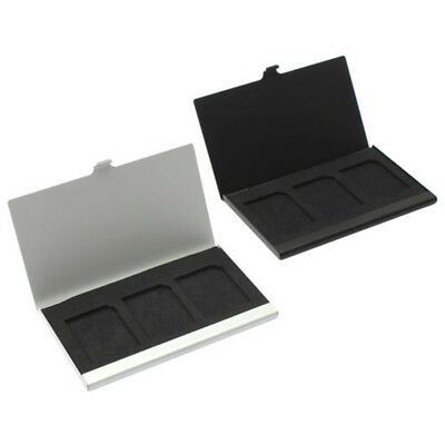 Aluminum Alloy Memory Card TF Case Storage Box Holder for 3Pcs SD Cards Deluxe