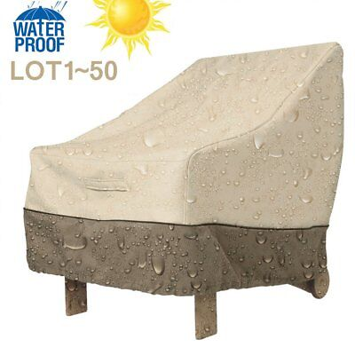 LOT Outdoor Waterproof High Back Patio Chair Table Furniture Cover Protector OY