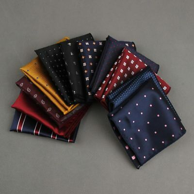 Luxury Man Polka Dot Striped Pocket Square men's Suit Handkerchief For Wedding