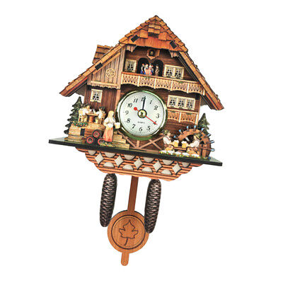 Cuckoo Wall Clock Creative Wooden Clock Home Living Room Bedroom Décor K