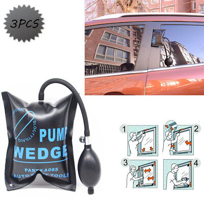 3pcs Pump Wedge Inflatable Shim For Car Door Window Shim Entry Open Hand Tools