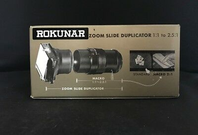 "ROKUNAR ZOOM SLIDE DUPLICATOR  1:1  to 2.5:1 ""T"" Mount"