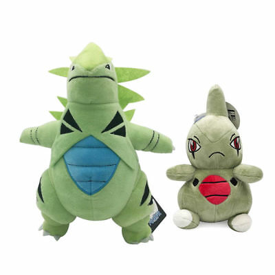 2PCS Pokemon Larvitar & Tyranitar Plush Doll Stuffed Animal Figure Toy Xmas Gift