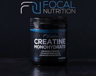 CREATINE MONOHYDRATE 100% PURE 300G/ 0.3KG- FOCAL NUTRITION Pharmaceutical Grade