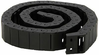 Brand New 15mm x 30mm Black Plastic Semi Closed Drag Chain Cable Carrier 1M