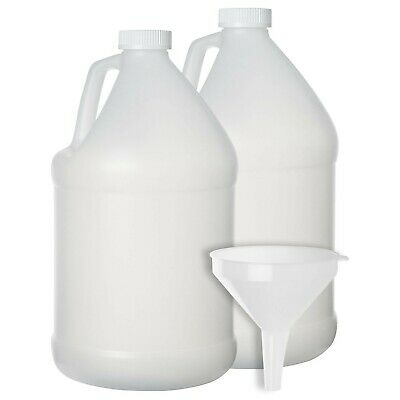 2 Pack - 1 Gallon Plastic Bottle - Large Empty Jug Style Container with Child Re