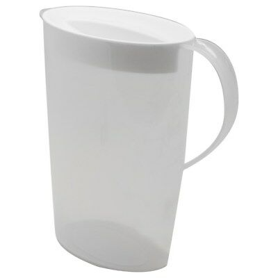 3 pcs Fridge Door Plastic Water Jug Set with Lid 2.5L Water Pitcher BPA FREE