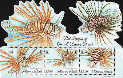 Pitcairn Islands 2015 Red Lion Fish sheet UM (MNH)