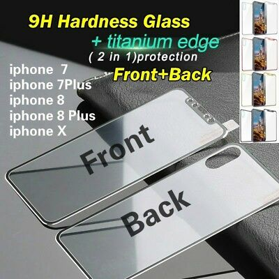 Front+Back 3D 9H Tempered Glass Screen Protector Full Cover For iPhone X 8 7 6 +