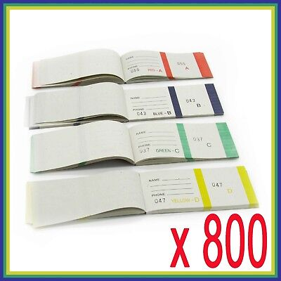 800 , RAFFLE TICKETS , Check book , RaffleTicket, Printed, Numbered check cards