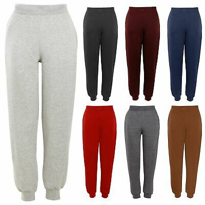 Boys Girls Children School Jog Pants Sports Fleece PE Joggers Trouser Bottoms