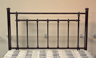 5ft Kingsize Metal Headboard for Bed in smoked chrome finish BRAND NEW