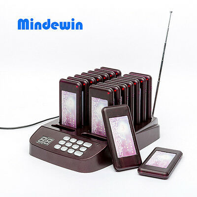 Wireless Restaurant System Pager Paging Coaster Queuing Guest Call Calling 16