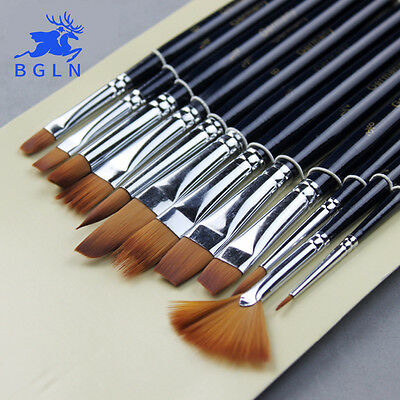 Paint Set Brush 3 Brushes 1 2 5 Piece Pc Synthetic Professional New All Purpose