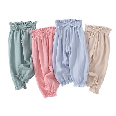 Baby Boys Girls Boho Floral Mosquito Harem Loose Pants Cotton Soft Trousers 1-7T