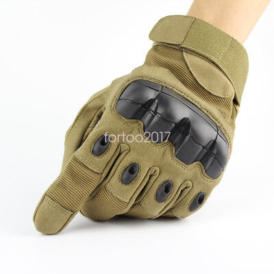 Military Tactical Outdoor Hard Knuckle Full Finger Army Shooting Breath Gloves