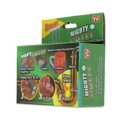 3Packs Magic Mighty Putty Fill Seal Glue Tool With Gloves For Wood Ceramic Metal