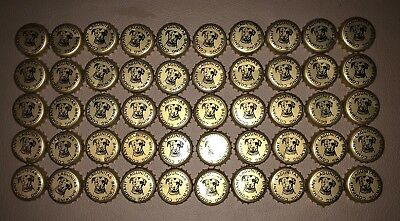 Lot Of 50 LAGUNITAS Brewing Co. Gold Dog Beer Bottle Caps Lids  FREE SHIPPING!