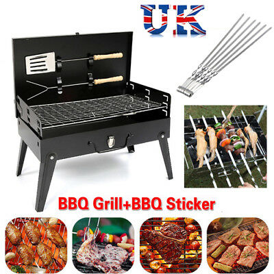 Barbecue Grill Stove BBQ Portable Camping Garden Outdoor Folding Travel Charcoal