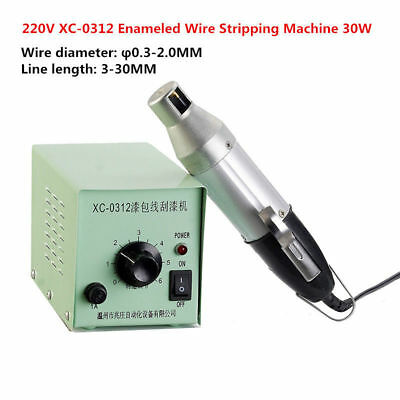 220V Electric Enameled Copper Wire Stripping Machine Varnished Wire Stripper 30W