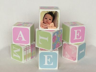 Wooden Name Blocks, Ideal Christening Gift - New Baby Gift - Christmas gifts
