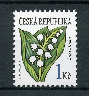 Czech Republic 2018 MNH Lily of the Valley 1v Set Flowers Flora Nature Stamps