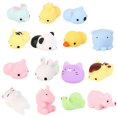 Mini Squishy Toys 10Pcs Squishies Animal Squeeze Kawaii Cat Bunny Duck Bear ....