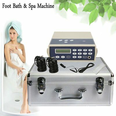 Detox Foot Bath Spa Machine Kit Cell Ion Ionic Aqua w/Case Cleanse Fir Belt