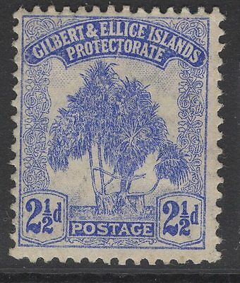 GILBERT & ELLICE IS. SG11 1911 2½d ULTRAMARINE MTD MINT