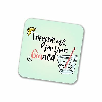 DRINK COASTERS CARTOON funny gin puns Novelty Coaster Set Gifts for Men  Women
