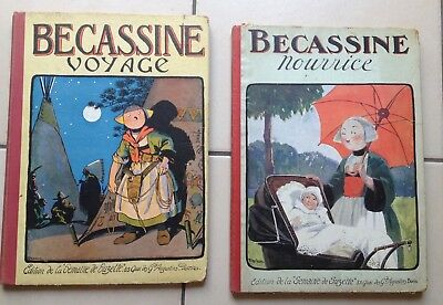 lot Bécassine nourrice 1926 et Becassine voyage 1923