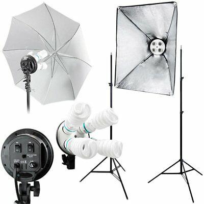 Photography Light Studio Video Stand Photo Continuous Lighting Softbox Kit US OY