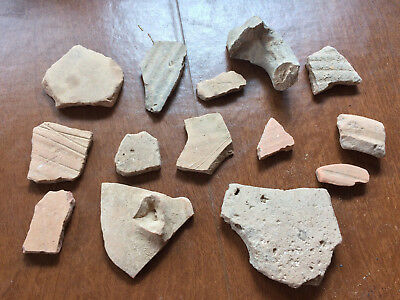 Holy land Israel 14 pieces earthen Pottery shards ancient biblical archeology #1