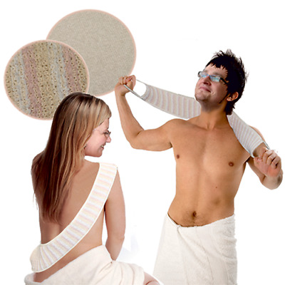 Padded Bath Scrub Massage and Exfoliating Strap With Handles - Bathing Aid