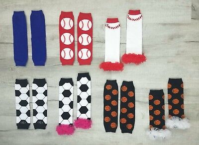 8 Options! * Sports Themed * Leg Warmers / Arm Warmers Unisex Baby & Toddler