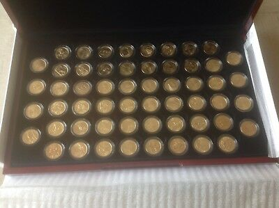 U.S. Currency - 1999-2009 State Quarters - Set Of 56 - Gold Plated  - Coins