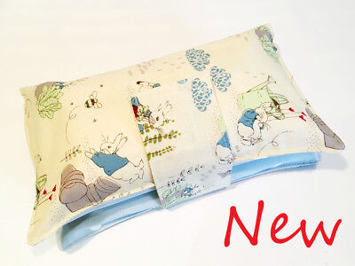 Handmade nappy wipe changing pouch holder wallet- Peter Rabbit Pin Blue Unisex