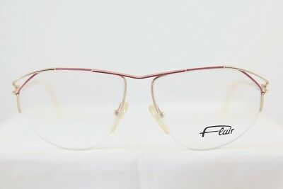 757b245466 Great Vintage Flair 401 Half Rimless Eyeglasses Brille New! Made In Gemany