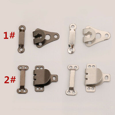 10 Set Trouser Hooks and Bars Fasteners Brass for Skirts Trousers Tailor Sew On