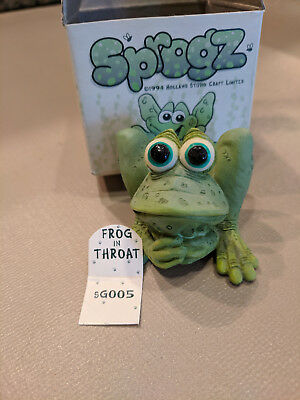 Sprogz sg005 Frog in Throat, from Monroe Studios. Original Box and Display tag