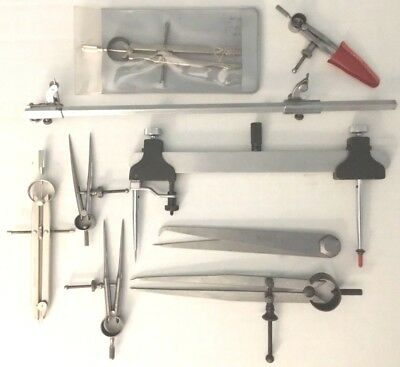 Lot of Vintage Drafting Tools 9 Pieces