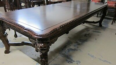 New Solid Mahogany Lions Head Dining Room Table