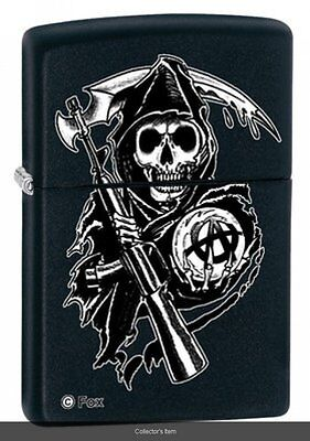 Zippo Lighter - Sons of Anarchy Grim Reaper Black Matte - 28504