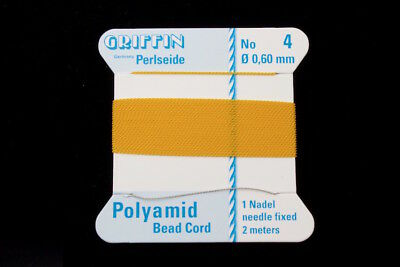 Amber Griffin Nylon Size 4 Needle End Bead Cord #CGF210