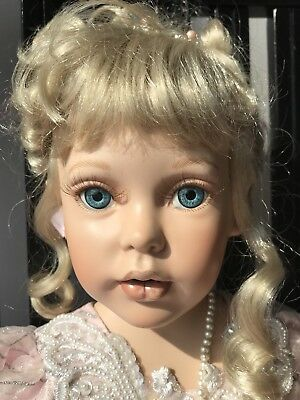 "Rare 32"" Cinderella Porcelain Doll by Artist Donna Rubert, Paradise Galleries"
