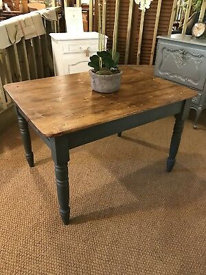Antique Pine Painted Table Victorian Dining Table FREE DELIVERY WITH BIN