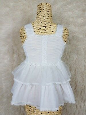 Vintage I.C. Little Girl's Sz 4T Nylon Lace Crinoline Full Slip Petticoat White