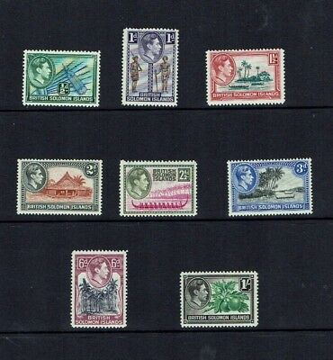 British Solomon Is: 1938 King George VI definitive, short set to 1/-, MNH